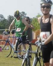 Bikers after participating in the Zoom through Brunswick Forest Event