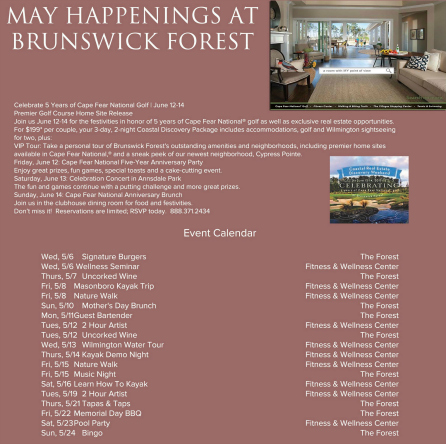 MAY EVENTS 2015