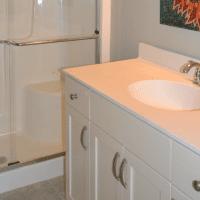 The upstairs flex room bath in the Jarrett Bay at Brunswick Forest