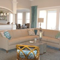 The living room of the Jarrett Bay at Brunswick Forest