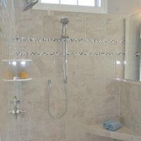 The master bathroom shower of the Jarrett Bay at Brunswick Forest