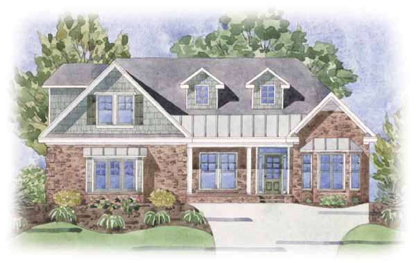 Inspire II At Brunswick Forest Watercolor Exterior View