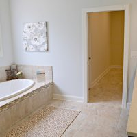 The master bathroom of the Carot Bay at Brunswick Forest