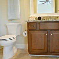 The bonus room bathroom in the Carot Bay at Brunswick Forest