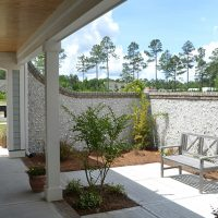 The courtyard of the Summerwind Villas at Brunswick Forest