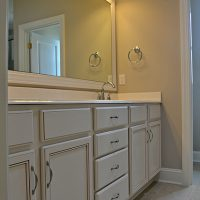 The master bath of the Summerwind Villas at Brunswick Forest