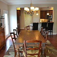 The dining area of the Summerwind Villas at Brunswick Forest