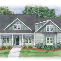 The Lautner at Brunswick Forest - front elevation 1