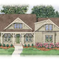 The Lautner at Brunswick Forest - front elevation 2