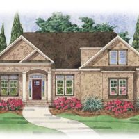 The Lautner at Brunswick Forest - front elevation 3