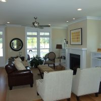 The living room of the Mather Green at Brunswick Forest