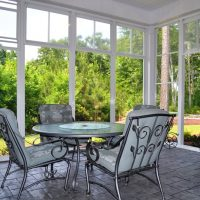 The screened porch on the Padre Island at Brunswick Forest