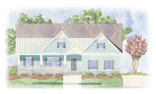 Paxton At Brunswick Forest Watercolor Rendering