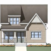 The Tradd at Brunswick Forest - front elevation 2