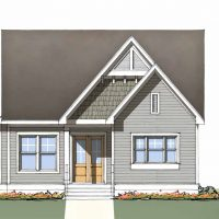 The Tradd at Brunswick Forest - front elevation 3