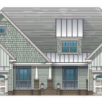 The St. Thomas II at Brunswick Forest - front elevation 3