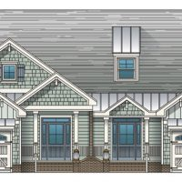 The St. Thomas at Brunswick Forest - front elevation 2