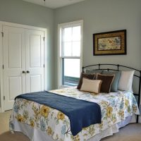 The guest bedroom of the Heron II at Brunswick Forest