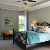 The master bedroom of the Heron II at Brunswick Forest