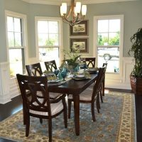The breakfast nook in the Heron II at Brunswick Forest