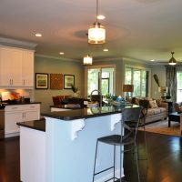 The open floor plan of the Heron II at Brunswick Forest