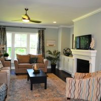 The family room of the Heron II at Brunswick Forest