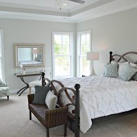 The master suite of the Blue Heron II at Brunswick Forest