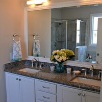 Sanderling II At Brunswick Forest master bathroom