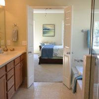 The master bath of the Heron at Brunswick Forest