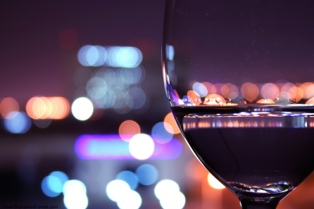 SEE THROUGH WINE GLASS
