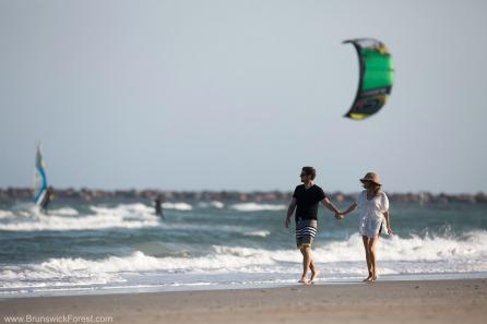 People Kiteboarding in the ocean