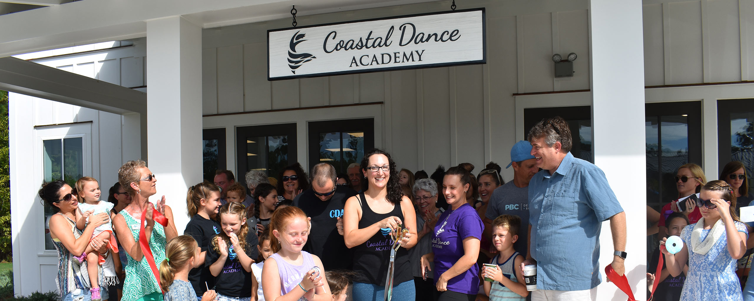 Group in front of Coastal Dance Academy