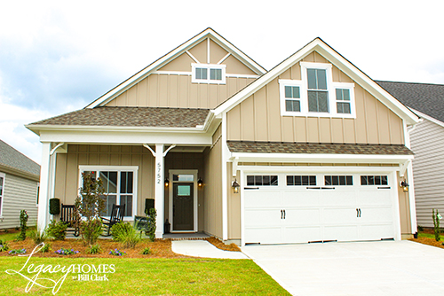 Exterior photo of the Myrtle floorplan by Legacy Homes by Bill Clark homebuilder