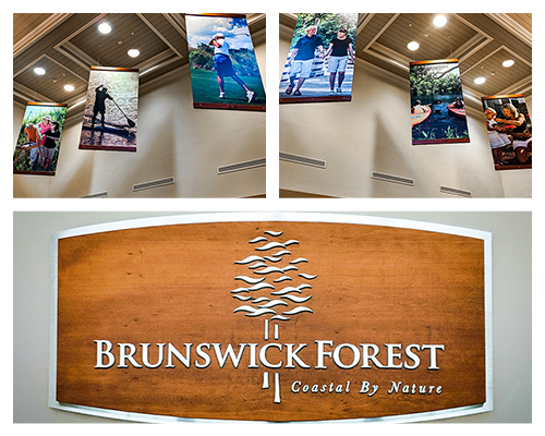 Photo collage - Brunswick Forest Welcome Center